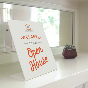 "Open House Welcome Sign- W ""Open House"""