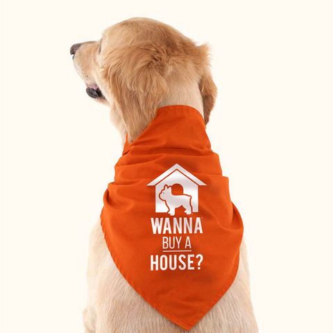 Dog Bandana - Wanna Buy A House