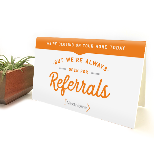 Referrals Sign-  white