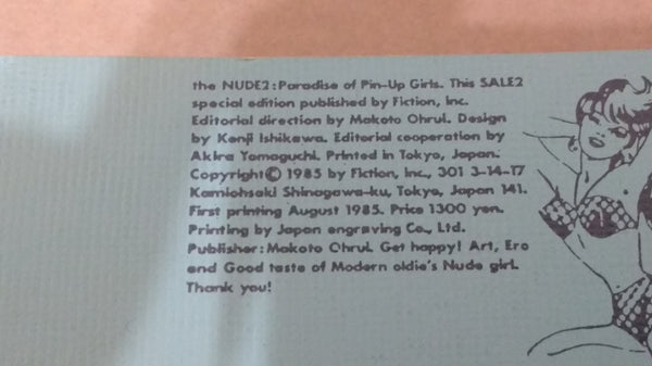 the NUDE:Paradise of Pin-Up vol1,2 | Makoto Ohrui (editor) | Fiction inc, 1984-1985