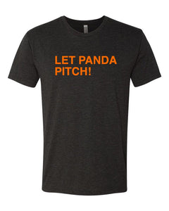 LET PANDA PITCH! Black Unisex T-Shirt