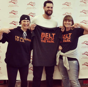 BELT IT OUT OF THE PARK. Unisex T-shirt