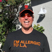 Load image into Gallery viewer, I'M ALLERGIC TO L.A. Black Unisex T-Shirt