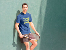 Load image into Gallery viewer, TENNIS TAKES BALLS. Unisex T-Shirt
