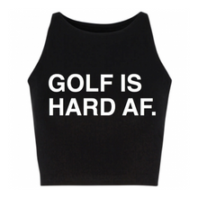 Load image into Gallery viewer, GOLF IS HARD AF. Women's Crop Top