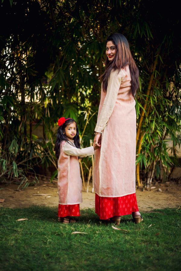 Hand Block Printed Traditional Mommy and Me Dresses