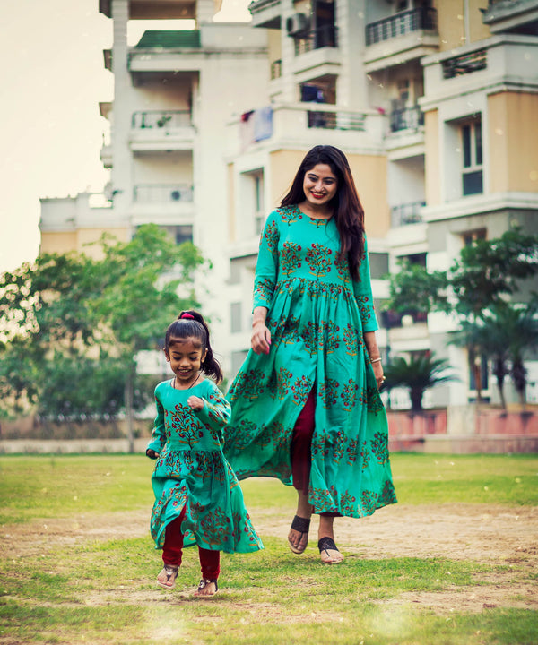 Trendy Indian Traditional Indo Western Style Mom Like Me Dresses