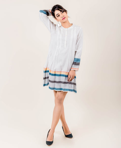 Full Sleeves Indian Block Printed Western Style Dresses online shopping india