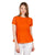 Orange A Line Tunic Distinctly Intricate Cotton Tops