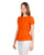 short sleeves orange cotton tops online