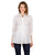Delicate Shirt Style Ivory Pleated Embroidered Tops