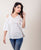 Cold Shoulder White Cotton Tunic Tops