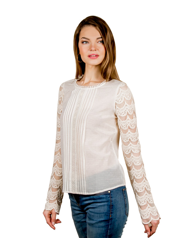 Embroidered Long Sleeves Tunic Top