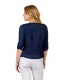 Georgette Indigo Blue Shrug for female online india
