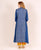 Trail Cut Flat V Neck Front Tasselled Indo Western Kurti with Pants