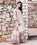Ivory Embroidered Straight Short Kurta with Printed Sharara