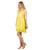 Lace Details Yellow mini Dresses for ladies