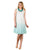 Linen Gauze Aqua Blue Ombre Swing Dresses India