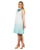 Linen Gauze Aqua Blue Ombre Swing Short Dress online India