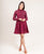 Maroon Collared Cotton Knee Length Dress
