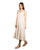 Off White Sleeveless Linen Maxi Dress with Adjustable Length