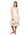 Off White Sleeveless Rayon Short Dress with Adjustable Length