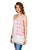 Pink and White Embroidered sleeveless Tunic Top