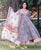 Sea Green and Peach Pink Anarkali Kurta Set with Dupatta