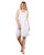 White Detailed Neckline Linen Gauze Sleeveless Tunic Dresses