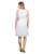 White Detailed Neckline Linen Sleeveless Tunic Dresses online