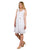 White Linen Sleeveless Short Dresses for women online india
