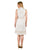 antique white cotton midi dress for female online