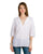 white 3-4 sleeves linen tunic tops