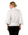 white cotton balloon sleeved tops for female