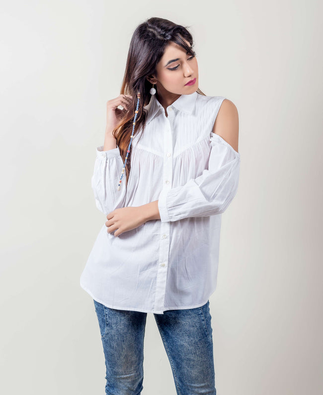 white cotton tops online shopping