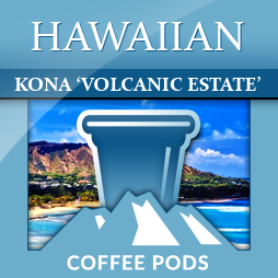 Hawaiian Kona 'Volcanic Estate' Single Coffee Pods 12-pk