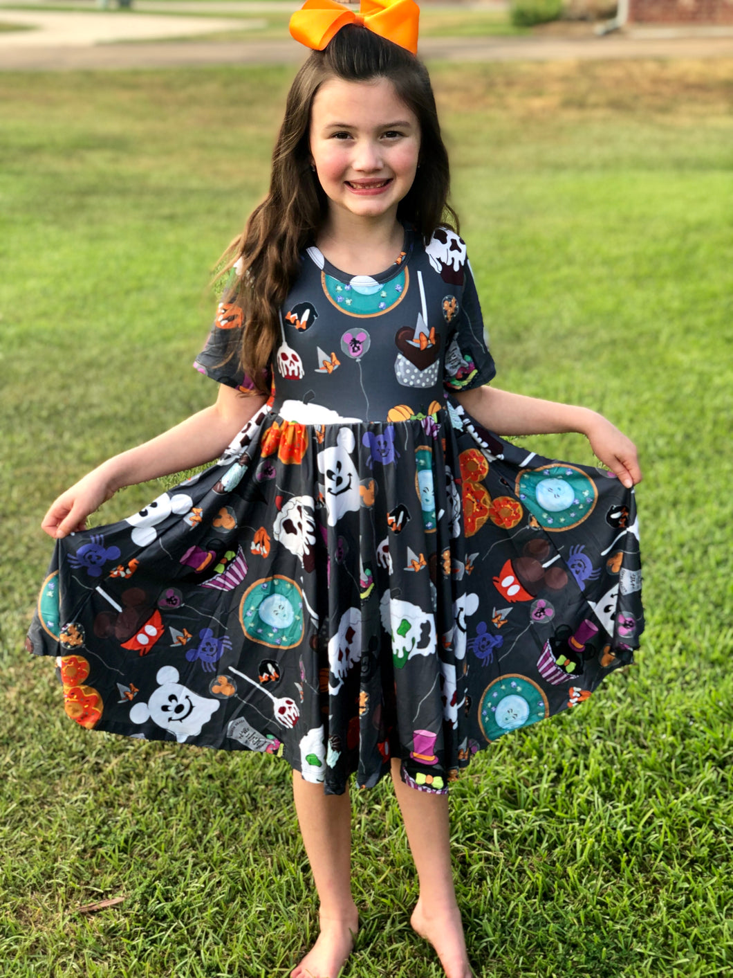 Mickey Halloween Scary treat twirl dress