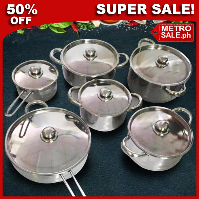 12 Pcs Thickening Cookware Set [FREE SHIPPING + 70% OFF]
