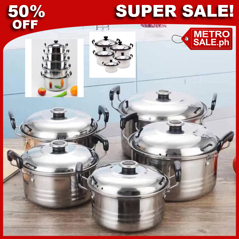 5Pcs set First Class Stainless Steel Combination Series