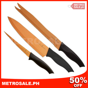 3 piece Copper Knife Set