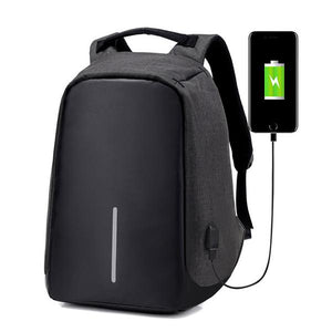 Waterproof Anti-Theft USB Charging Port Backpack