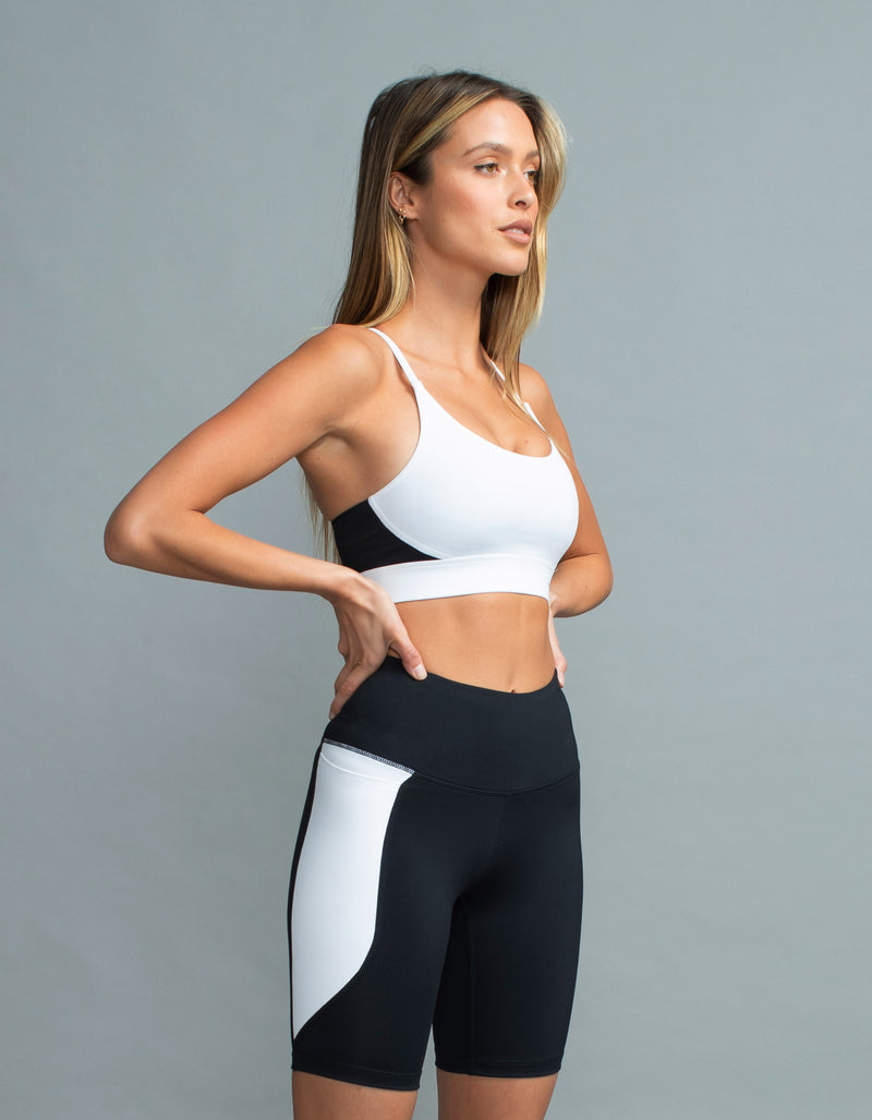 Hold Sports Bra White/Black