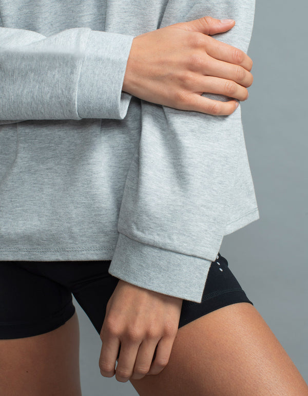 Mock Flex Sweat Silver Marle