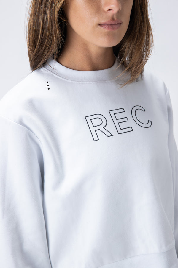 Edge Flex Crop Crew White