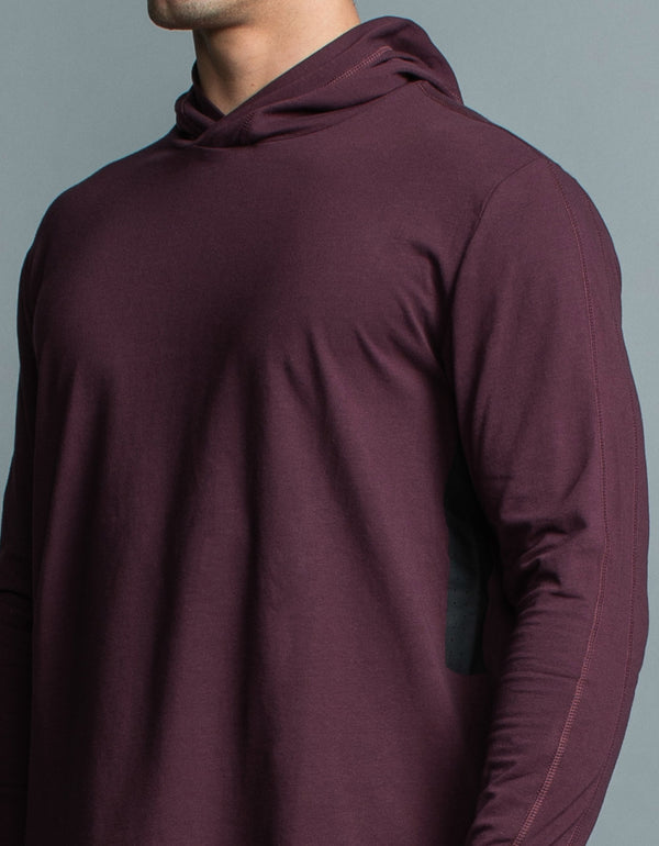 Form LS Hood Tee Blackberry