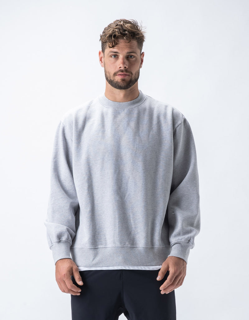 Rest Fleece Crew Silver Marle