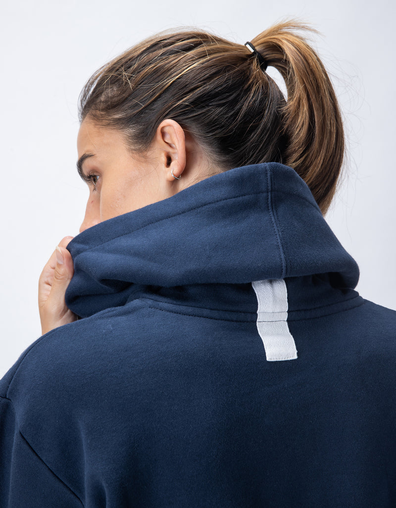 Rest Fleece Crop Hood Ink