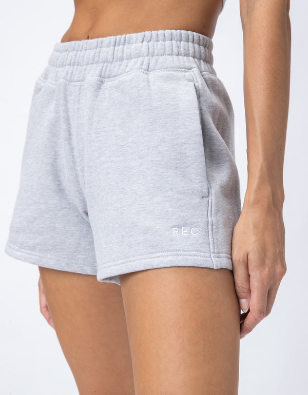 Rest Fleece Short Silver Marle