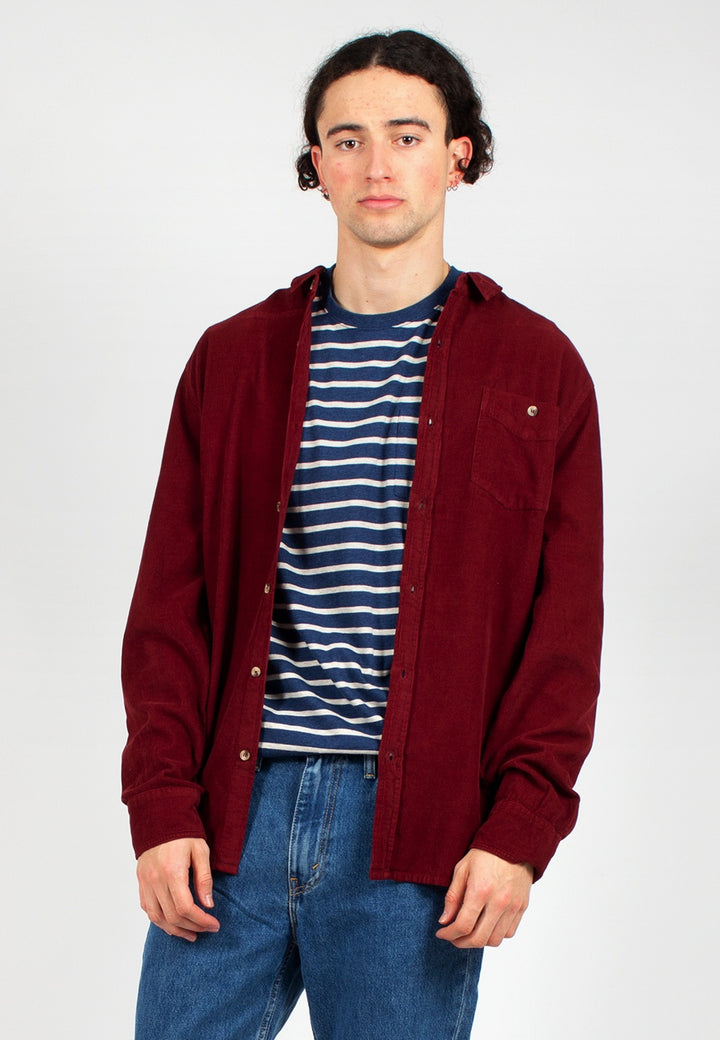 Rollas | Men At Work Cord Shirt - red earth | Good As Gold, NZ