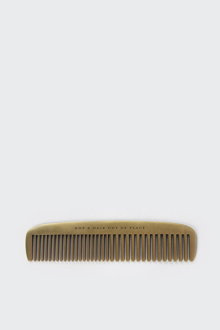 Izola, Not A Hair Out Of Place Brass Comb | GOOD AS GOLD | NZ
